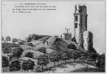 Scientific utilization of the Montlhery fortress by Arago and Chappe